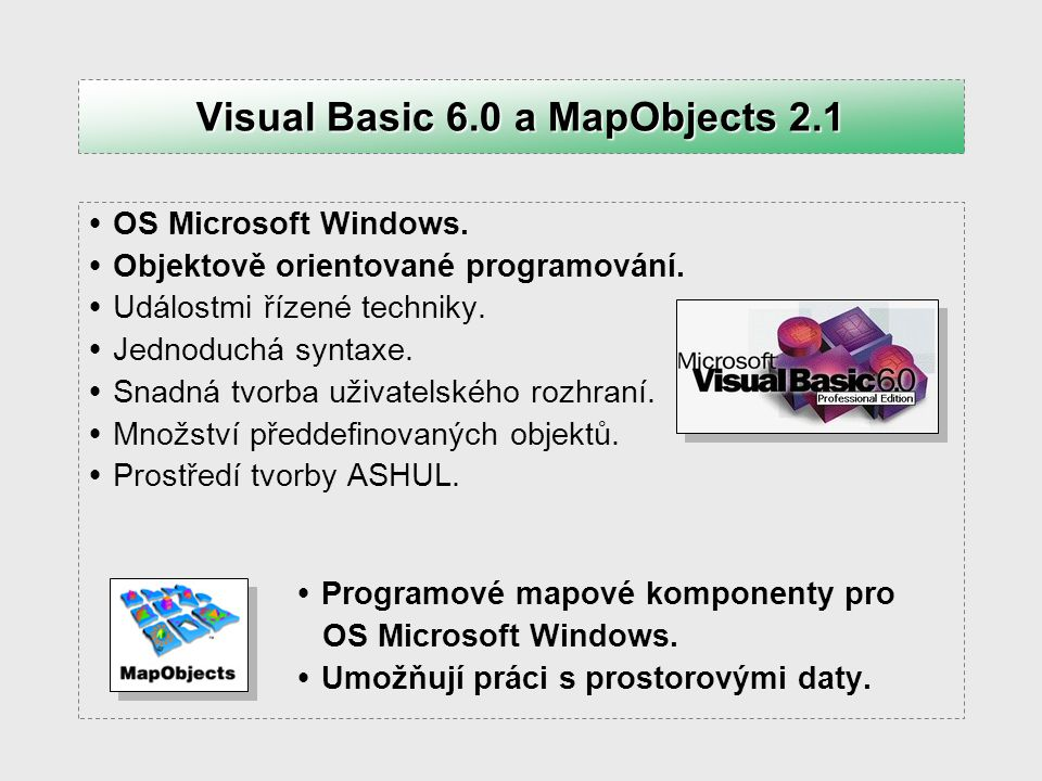 Visual Basic 6.0 a MapObjects 2.1
