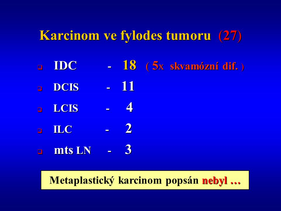 Karcinom ve fylodes tumoru (27)