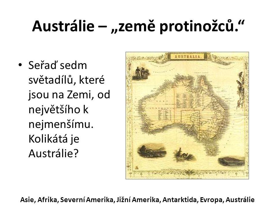 """Austrálie – """"země protinožců."""