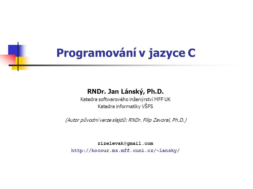 Programování v jazyce C
