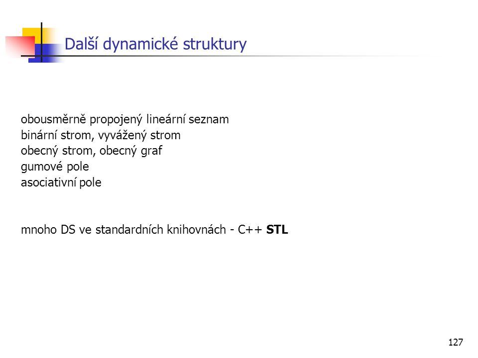 Další dynamické struktury