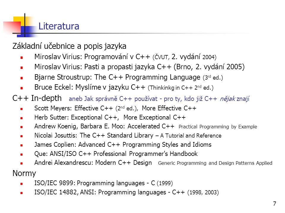 Literatura Základní učebnice a popis jazyka