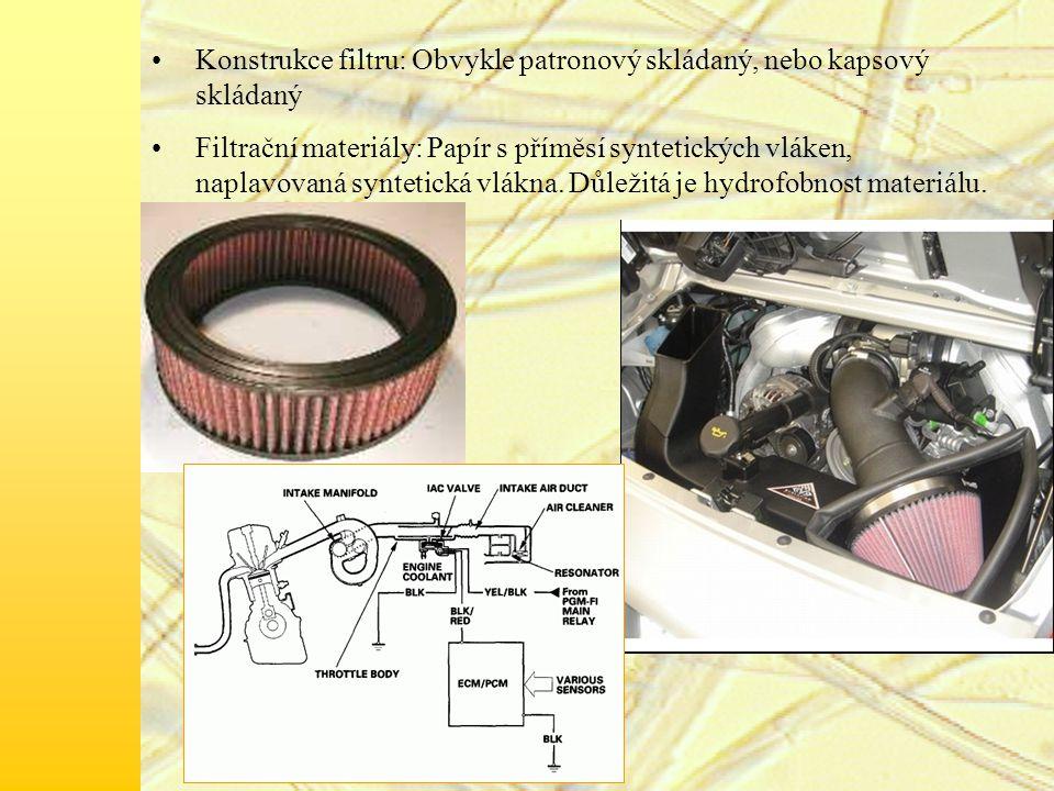 Konstrukce filtru: Obvykle patronový skládaný, nebo kapsový skládaný