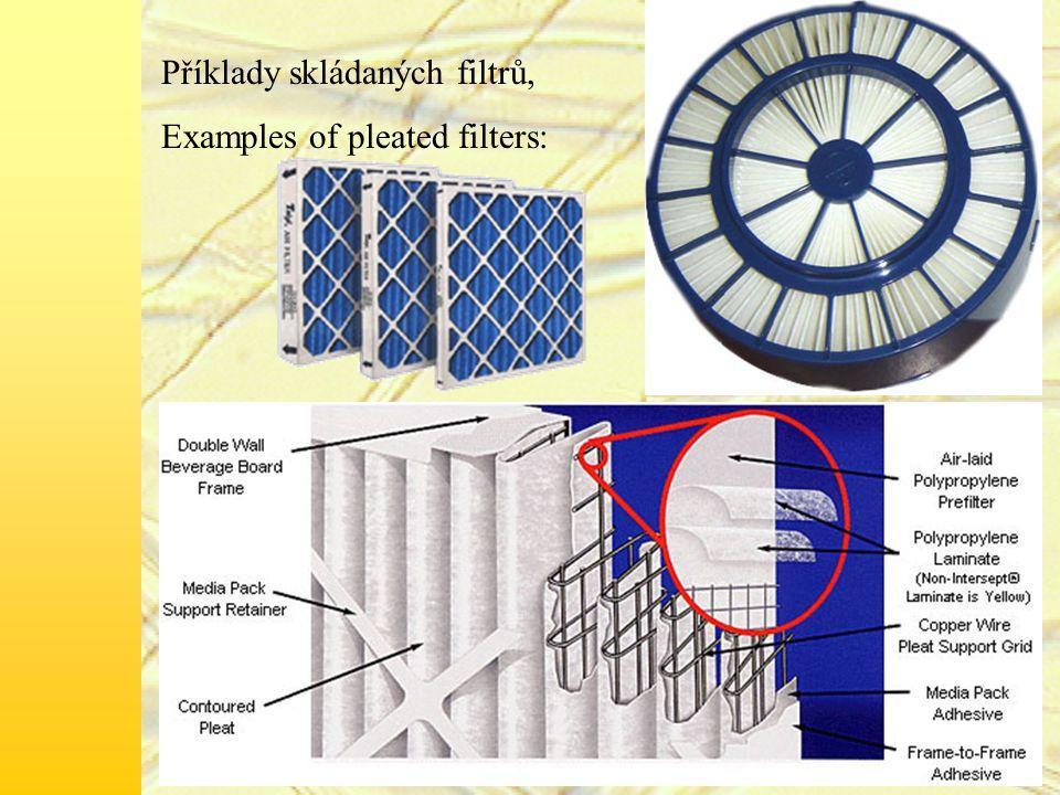 Příklady skládaných filtrů,