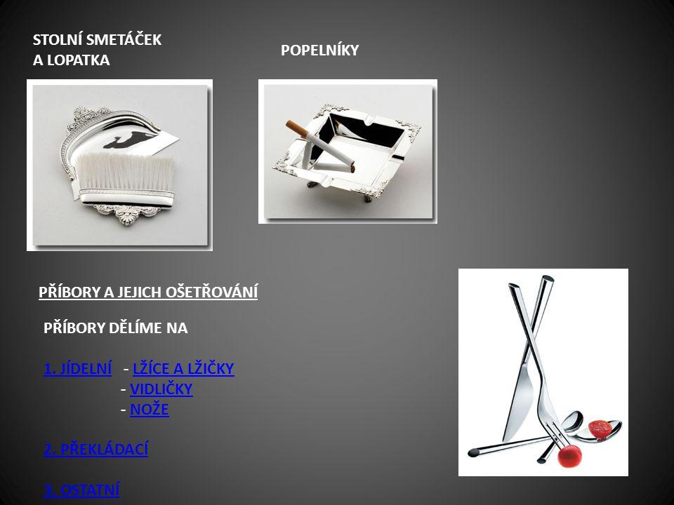 stolní smetáček a lopatka