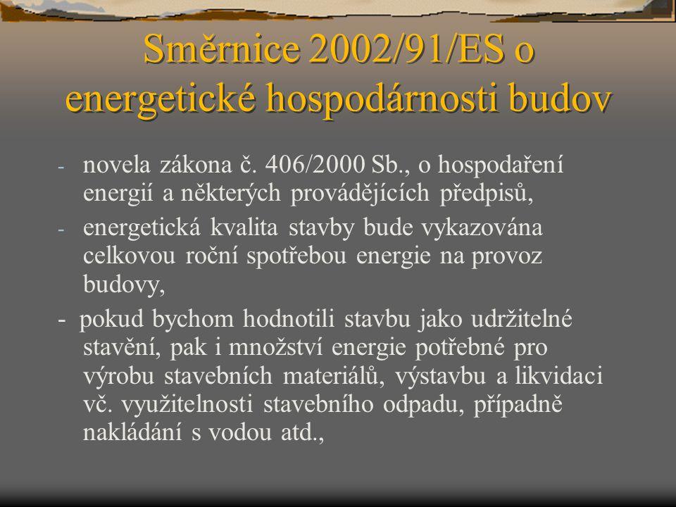 Směrnice 2002/91/ES o energetické hospodárnosti budov