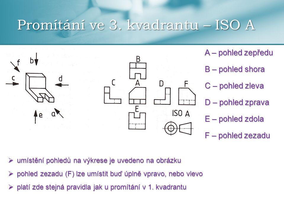 Promítání ve 3. kvadrantu – ISO A