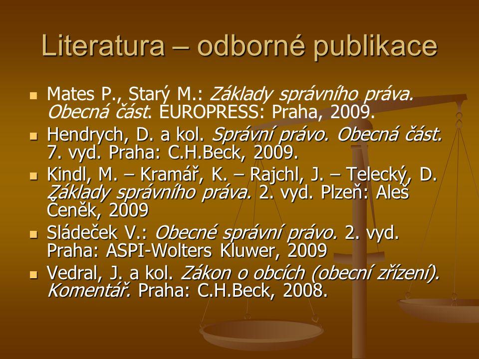 Literatura – odborné publikace