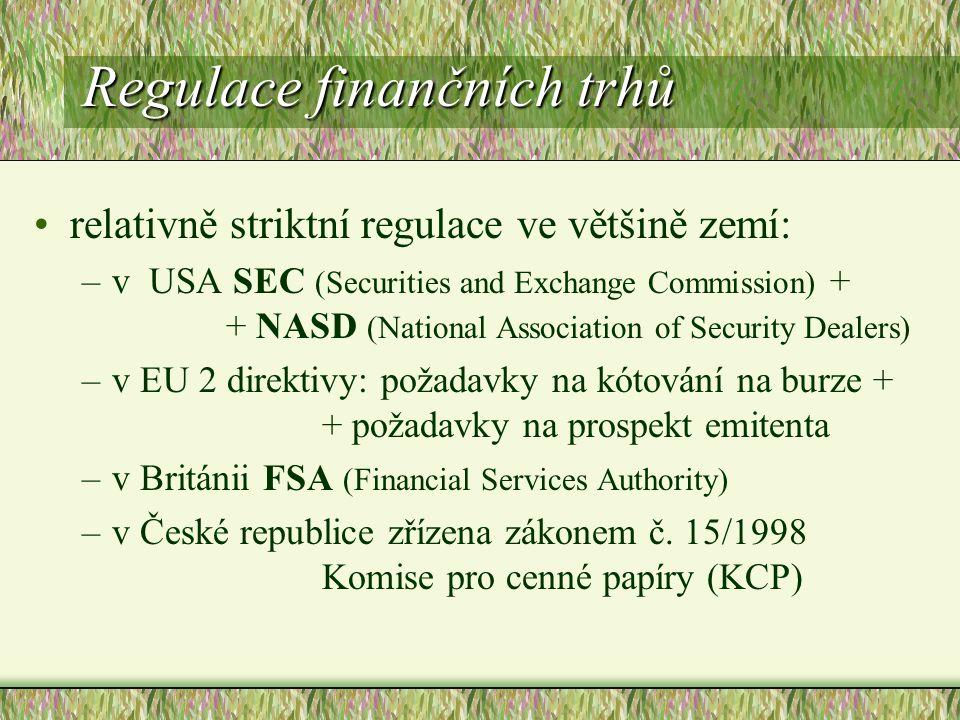 Regulace finančních trhů