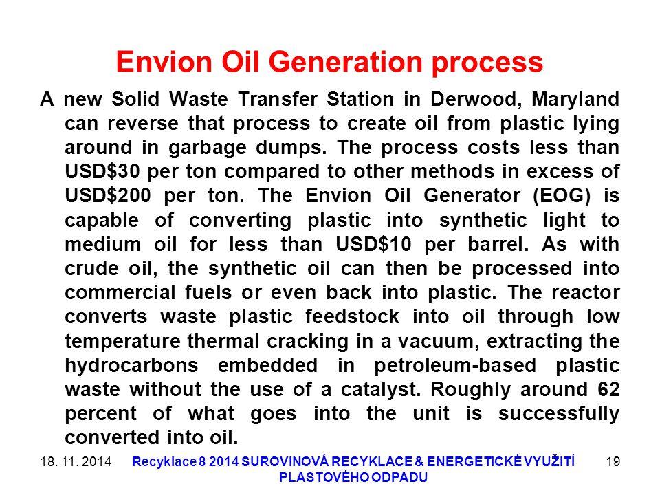 Envion Oil Generation process