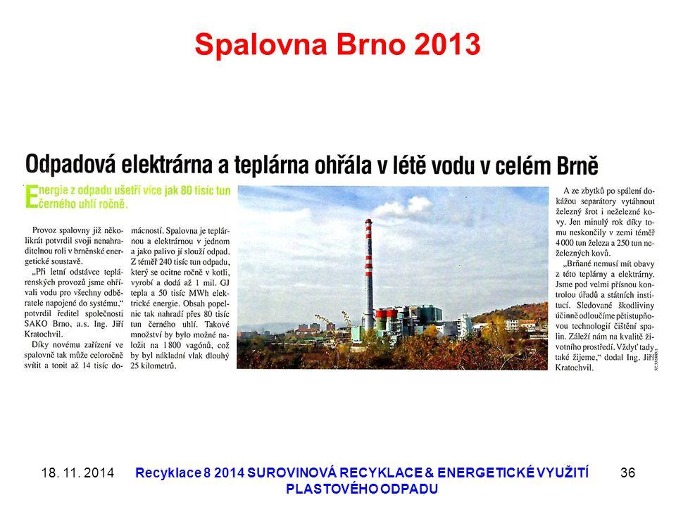 Spalovna Brno 2013 18. 11. 2014.