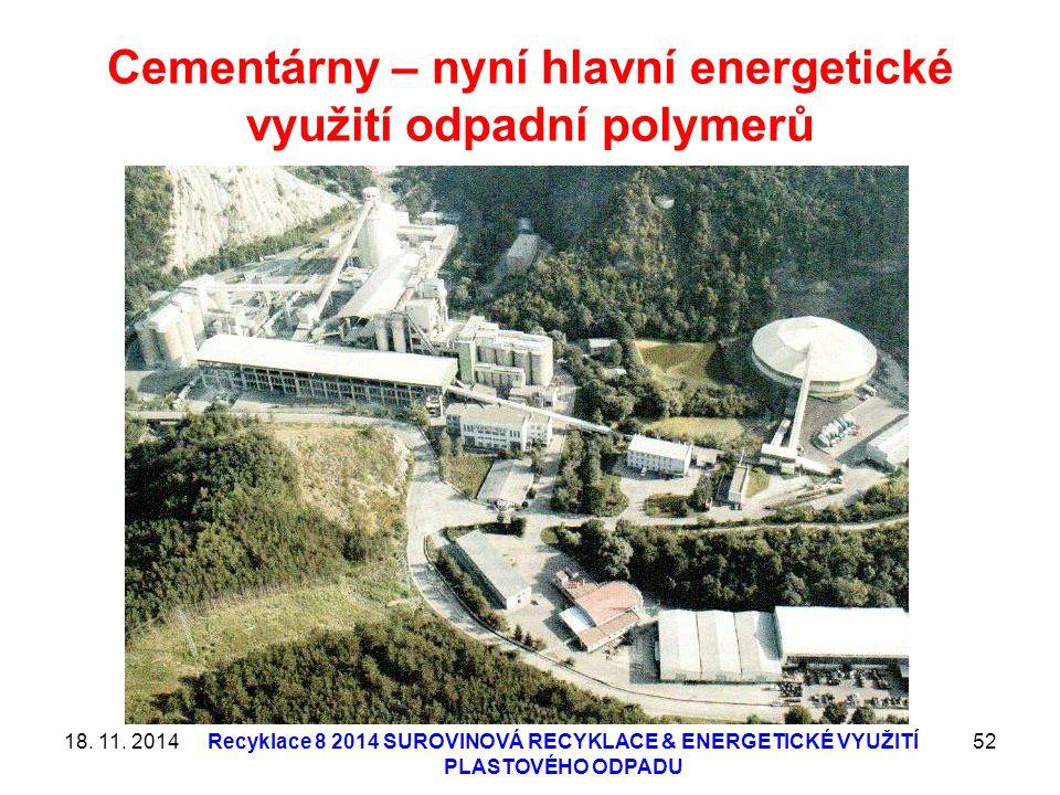 Cementárny – nyní hlavní energetické využití odpadní polymerů