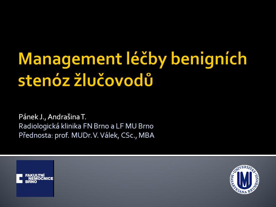 Management léčby benigních stenóz žlučovodů
