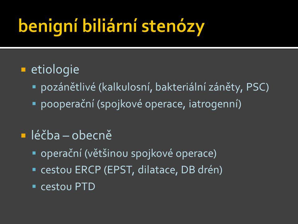 benigní biliární stenózy