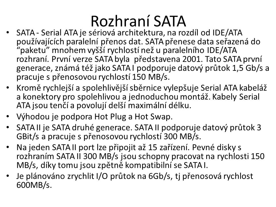 Rozhraní SATA