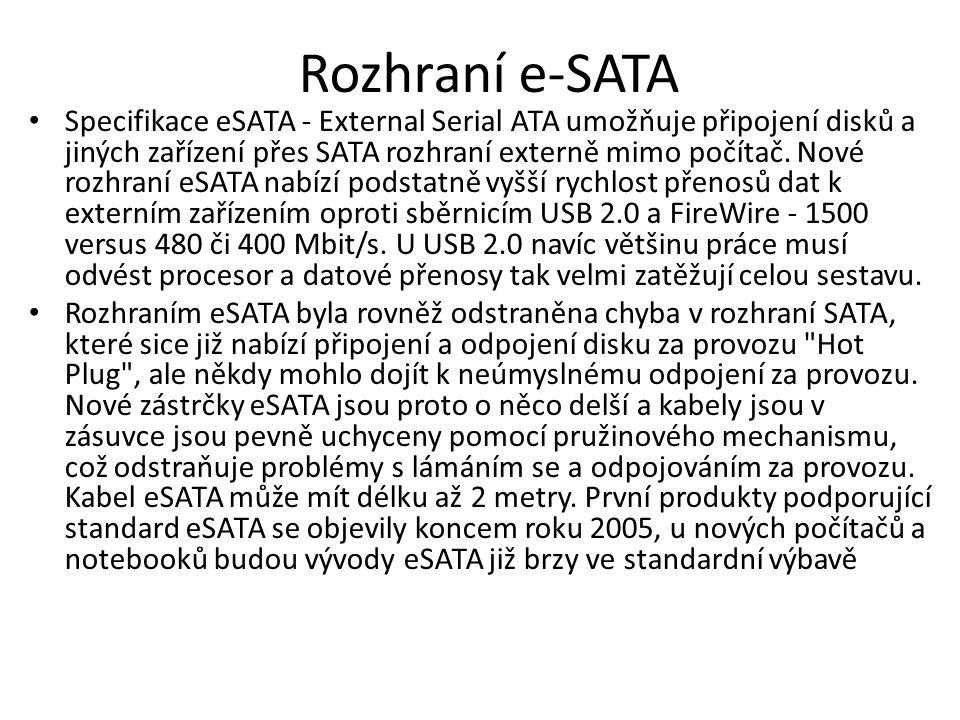 Rozhraní e-SATA