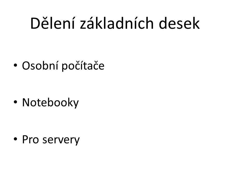 Dělení základních desek
