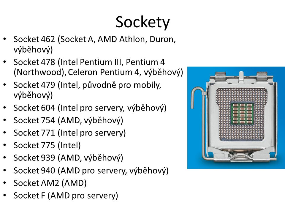 Sockety Socket 462 (Socket A, AMD Athlon, Duron, výběhový)