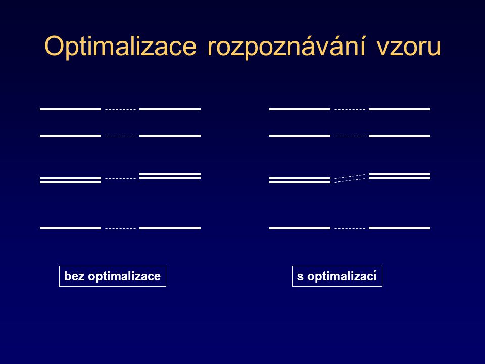 Optimalizace rozpoznávání vzoru