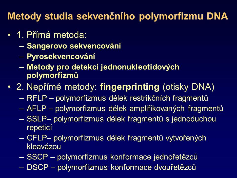 Metody studia sekvenčního polymorfizmu DNA