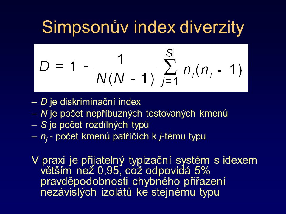 Simpsonův index diverzity