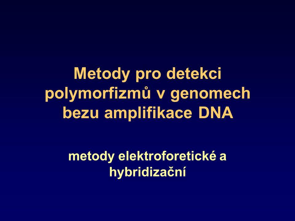 Metody pro detekci polymorfizmů v genomech bezu amplifikace DNA