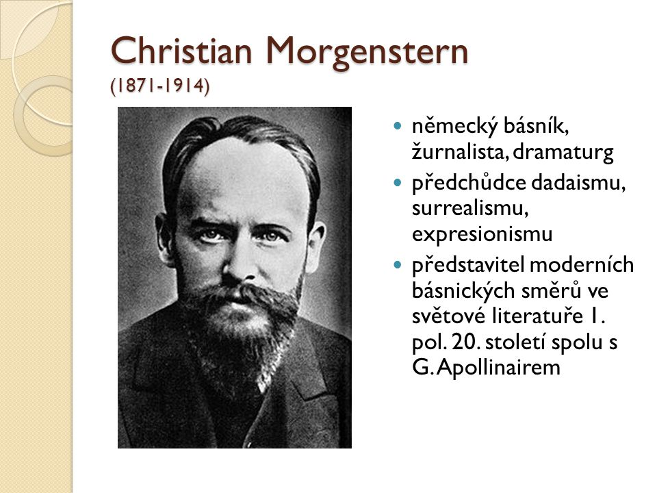 Christian Morgenstern (1871-1914)