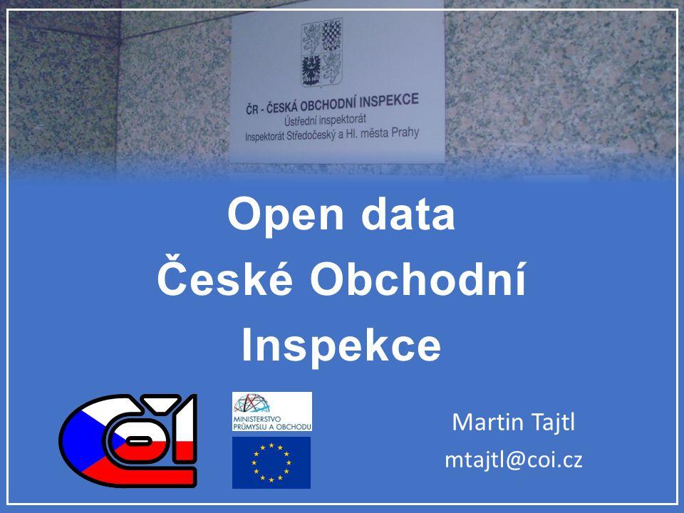 Open data České Obchodní Inspekce