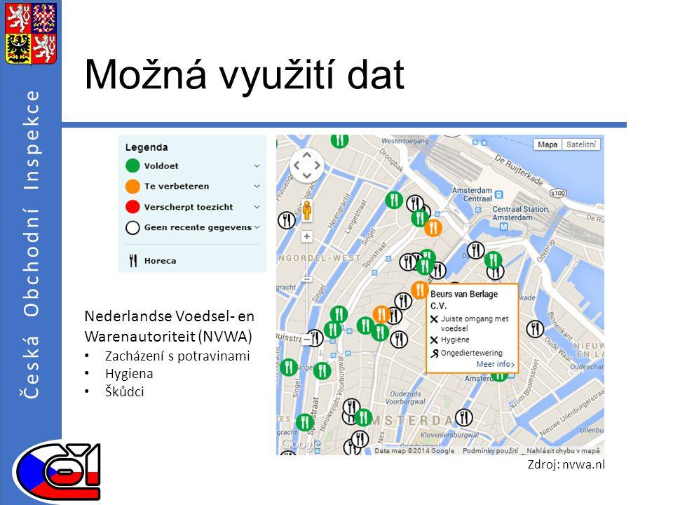 Možná využití dat Nederlandse Voedsel- en Warenautoriteit (NVWA)