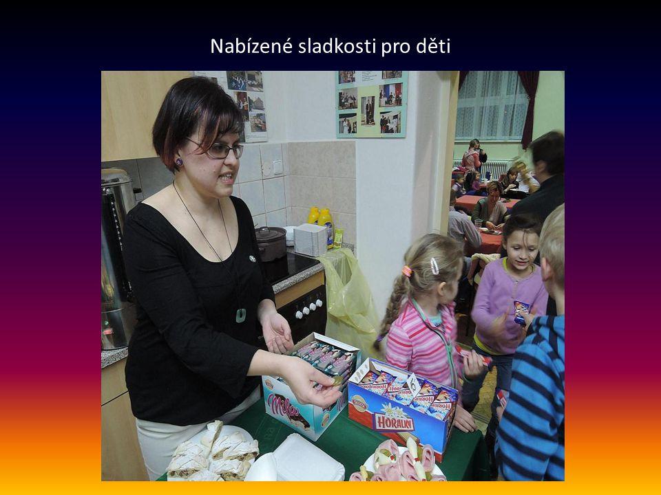 Nabízené sladkosti pro děti