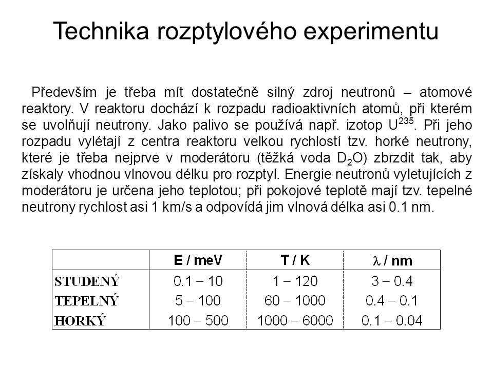 Technika rozptylového experimentu