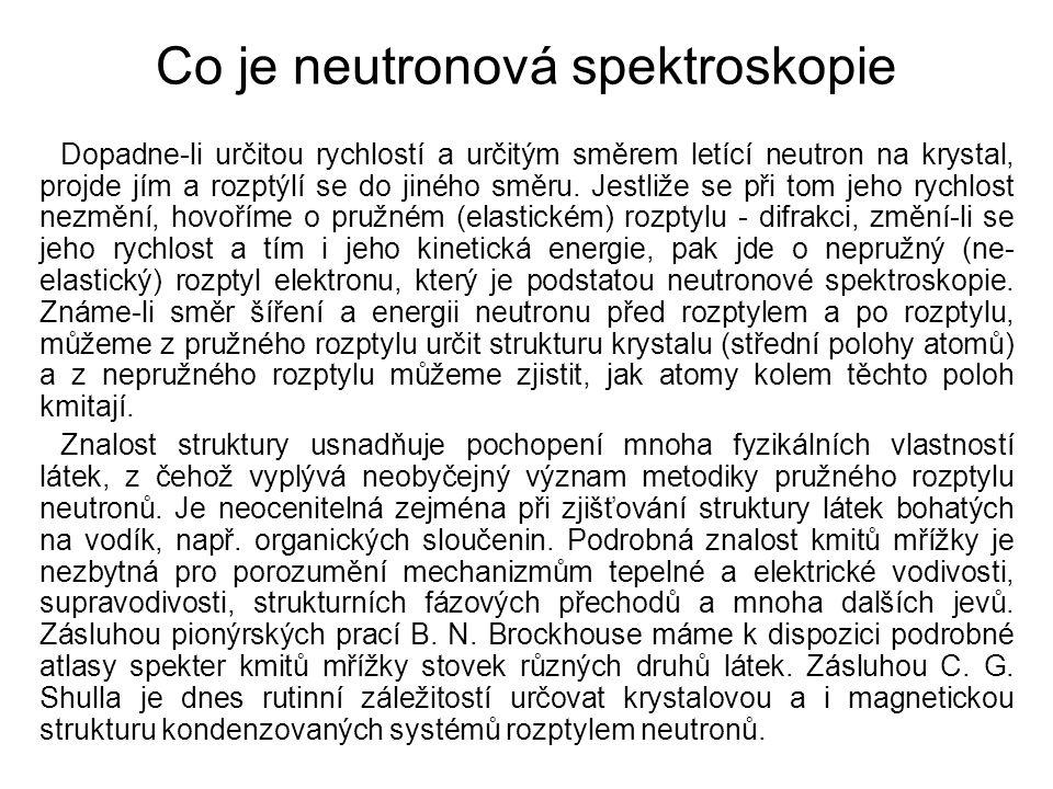 Co je neutronová spektroskopie
