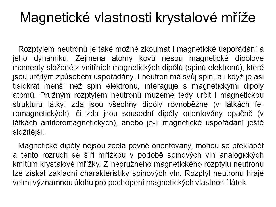Magnetické vlastnosti krystalové mříže