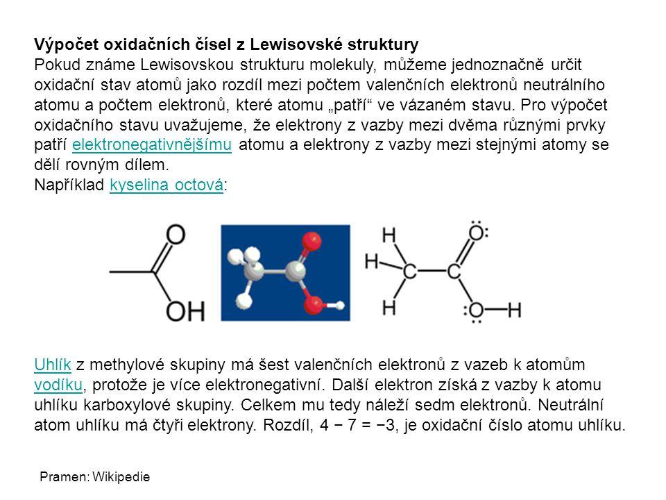 Výpočet oxidačních čísel z Lewisovské struktury