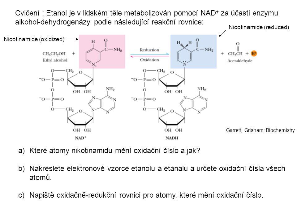 alkohol-dehydrogenázy podle následující reakční rovnice: