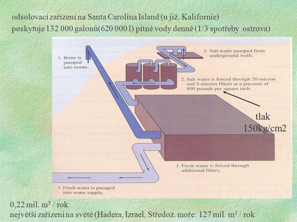 odsolovací zařízení na Santa Carolina Island (u již