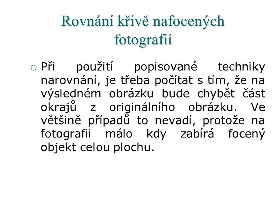 Rovnání křivě nafocených fotografií