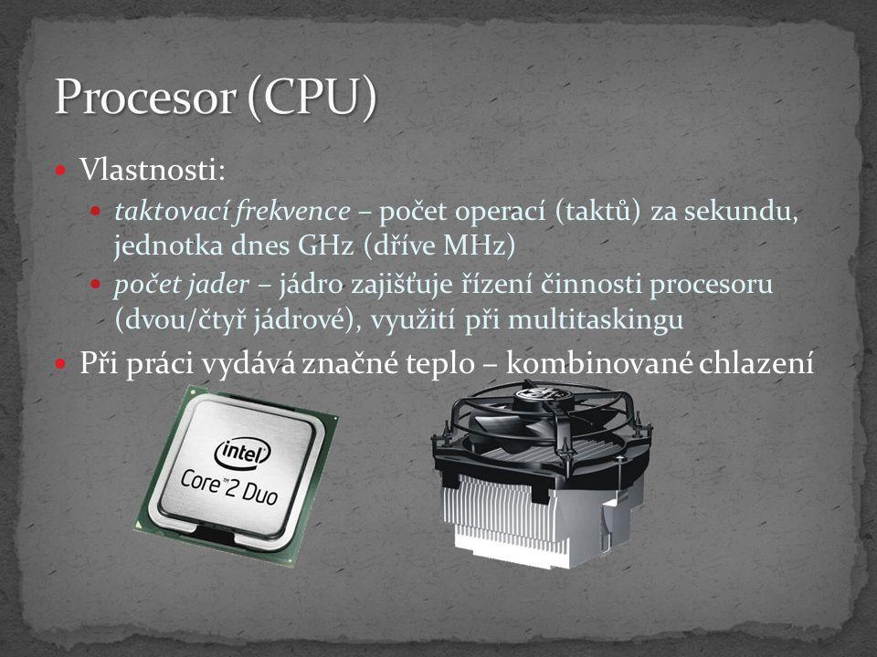 Procesor (CPU) Vlastnosti:
