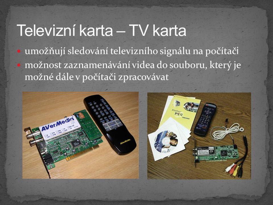 Televizní karta – TV karta