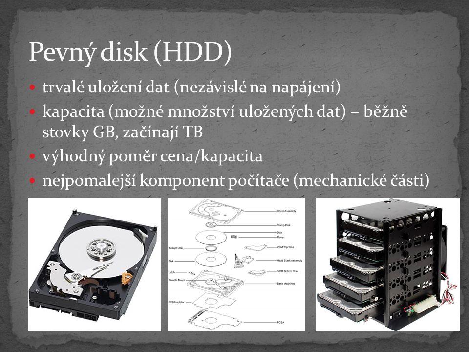 Pevný disk (HDD) trvalé uložení dat (nezávislé na napájení)