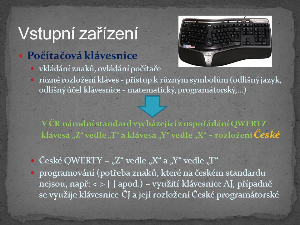 Vstupní zařízení Počítačová klávesnice