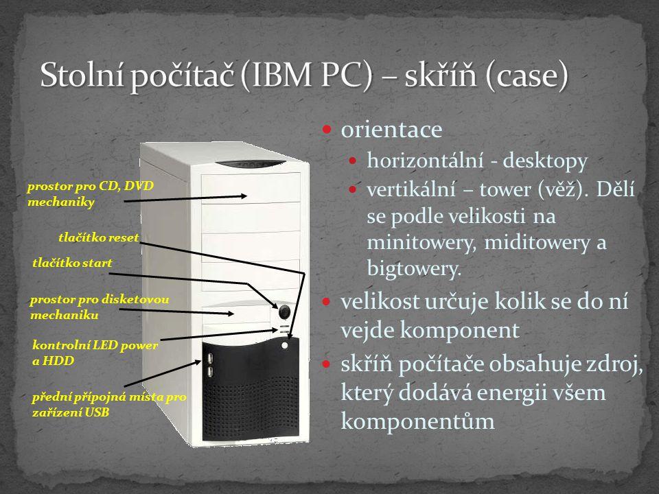 Stolní počítač (IBM PC) – skříň (case)