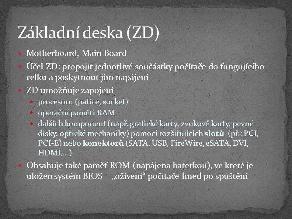Základní deska (ZD) Motherboard, Main Board