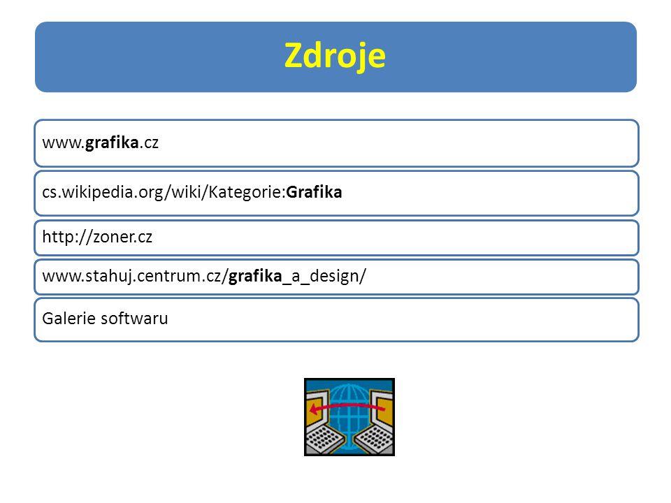 Zdroje www.grafika.cz cs.wikipedia.org/wiki/Kategorie:Grafika