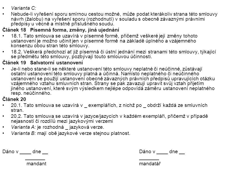 Varianta C: