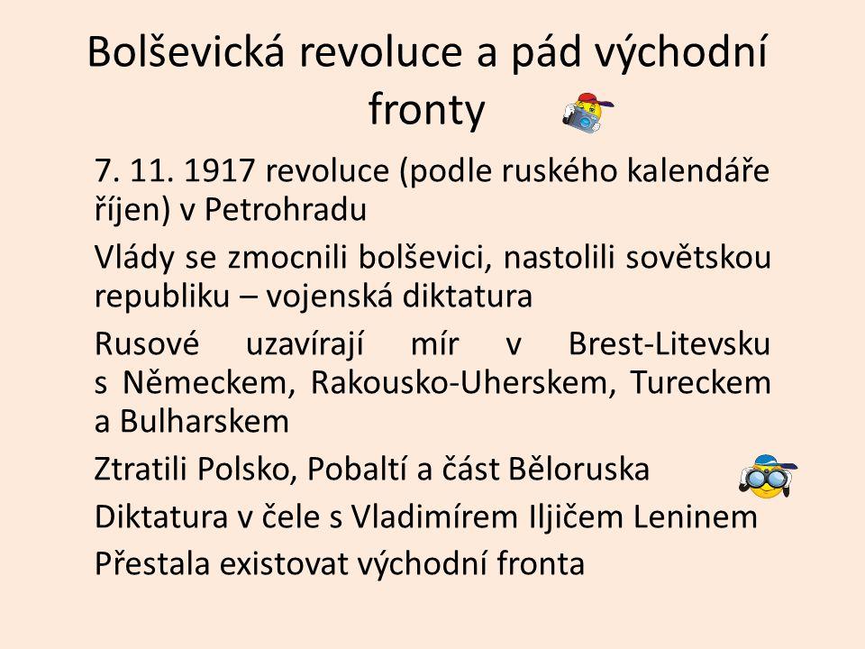 Bolševická revoluce a pád východní fronty