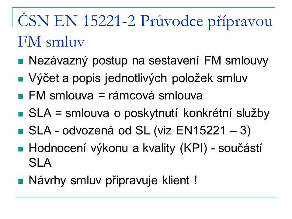 ČSN EN 15221-2 Průvodce přípravou FM smluv