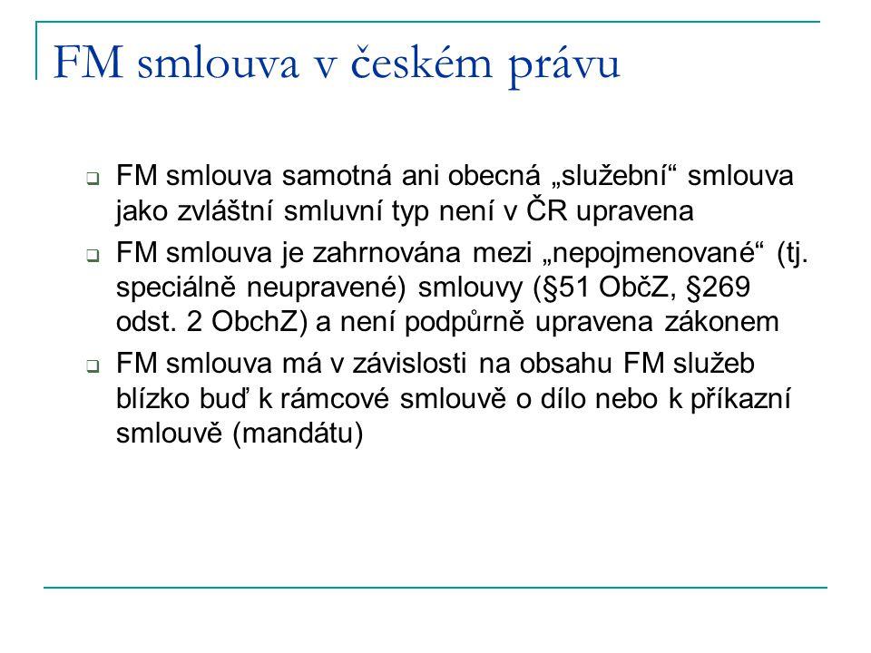 FM smlouva v českém právu