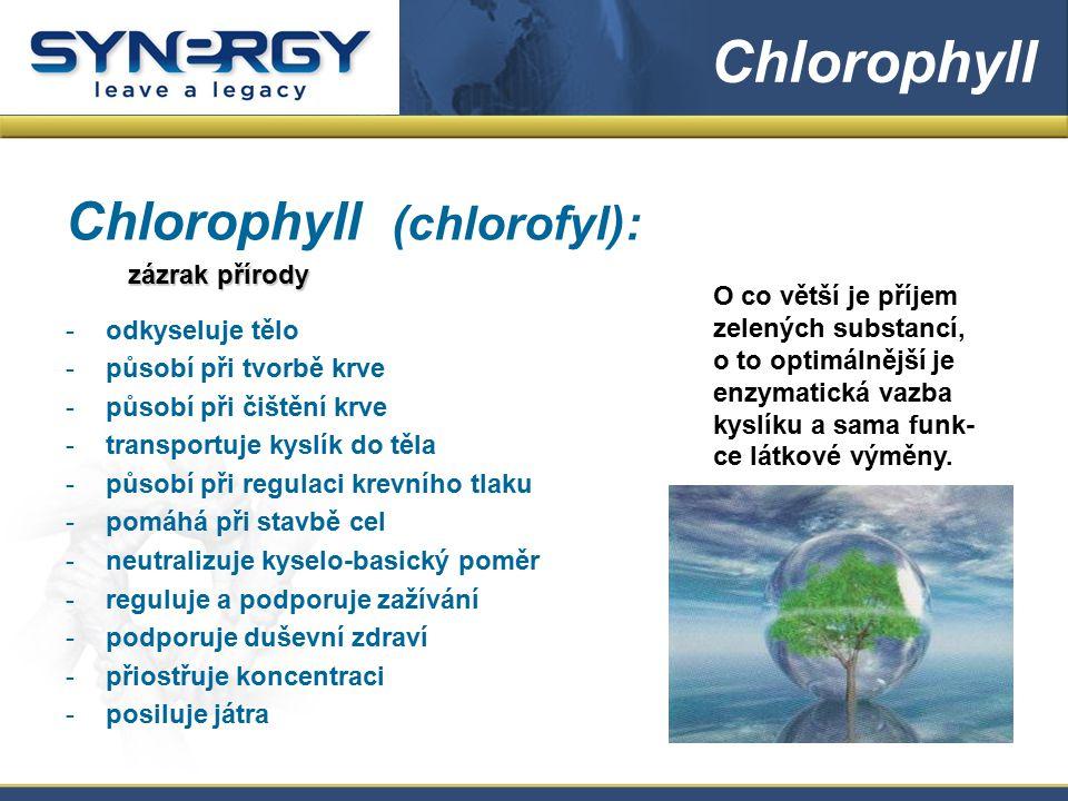 Chlorophyll Chlorophyll (chlorofyl): zázrak přírody odkyseluje tělo