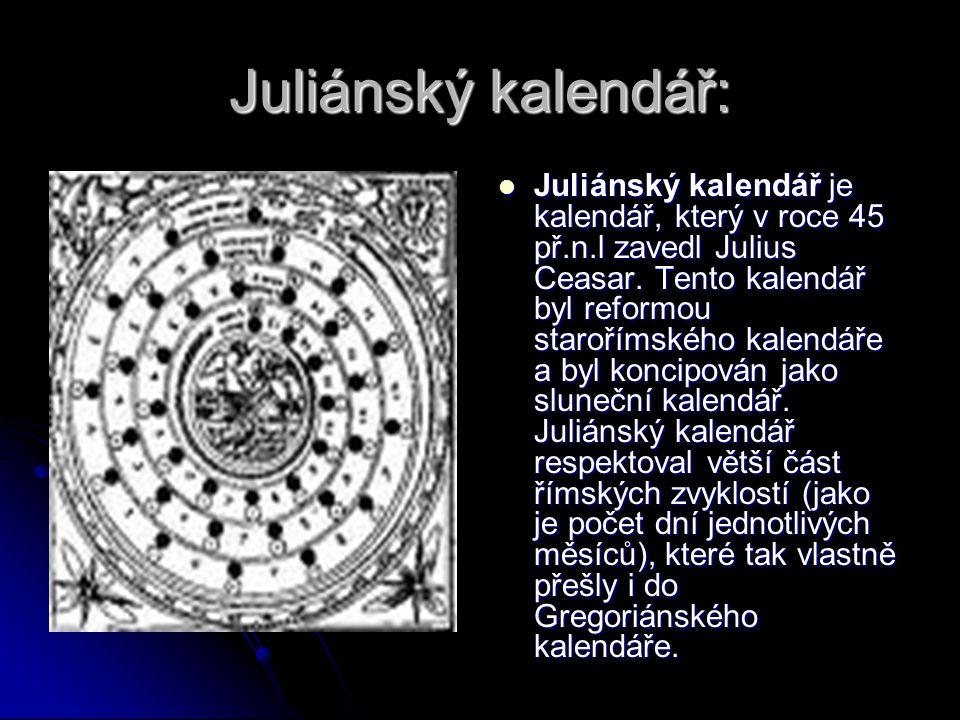 Juliánský kalendář: